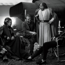 Gwiezdne Wojny Ostatni Jedi - Carrie Fisher, Rian Johnson, Mark Hamill oraz Kathleen Kennedy