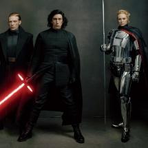 Gwiezdne Wojny Ostatni Jedi - Hux, Kylo Ren, Captain Phasma