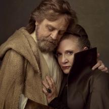Gwiezdne Wojny Ostatni Jedi - Mark Hamill i Carrie Fisher