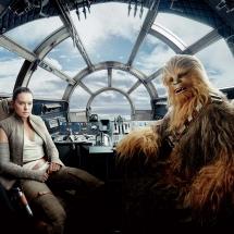 Gwiezdne Wojny Ostatni Jedi - Rey i Chewie