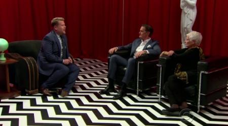 Kyle MacLachlan i Judi Dench w Red Roomie u Jamesa Cordena!