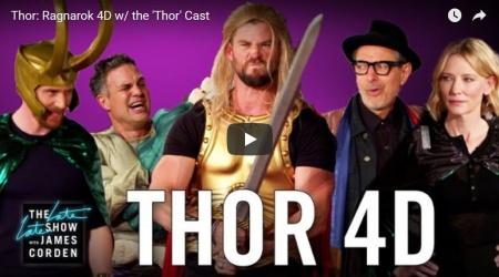 Thor: Ragnarok 4D, czyli James Corden tworzy kino