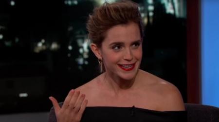 Emma Watson opowiada o nagrywaniu Pięknej i Bestii i Harry'ego Pottera u Jimmy'ego Kimmela