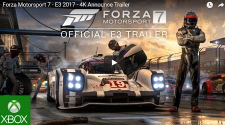 E3 2017 | Forza Motorsport 7 zapowiedziana! Jest gameplay na Xbox One X!