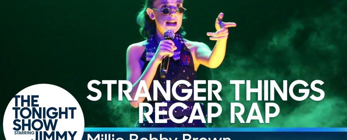 Millie Bobby Brown wywiad Fallon, millie bobby brown rap