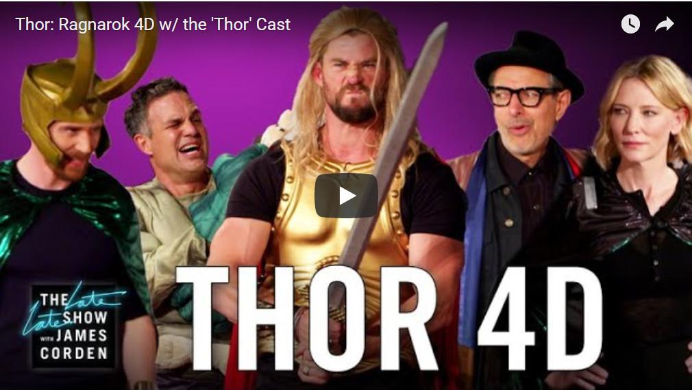 Thor Ragnarok James Corden